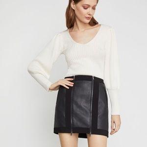 BCBGMAXAZRIA Roxy Faux Leather Mini Skirt